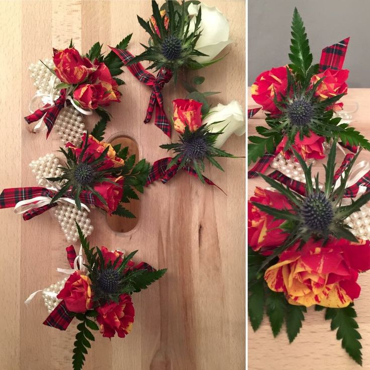 Buttonholes and corsages for Hogmanay celebrations