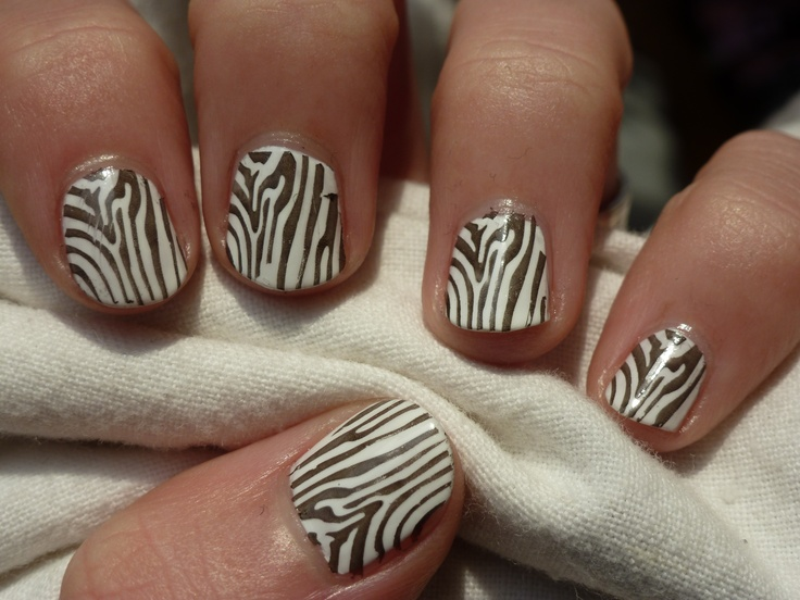 10: Manicure of your choice with black and white