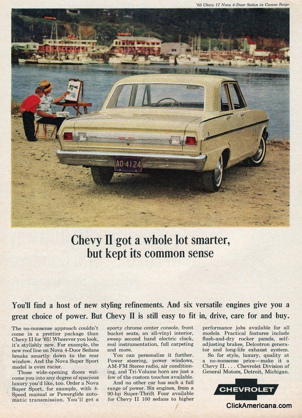 1965 Chevrolet Nova / Chevy II 4 door advertisement My first car (most've had many hands before mines)