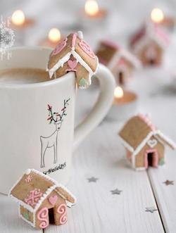festive coffee or cocoa mugs