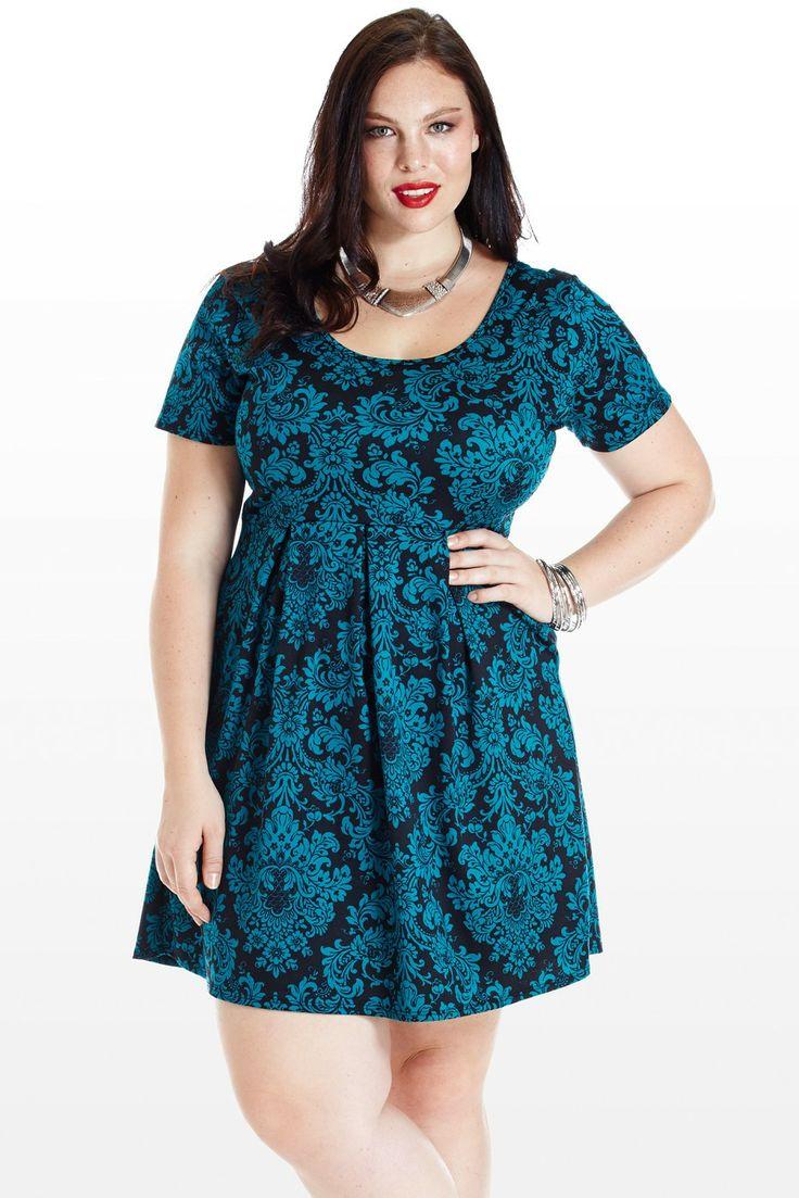 Scroll And Key Plus Size Babydoll Dress Fatshionistas