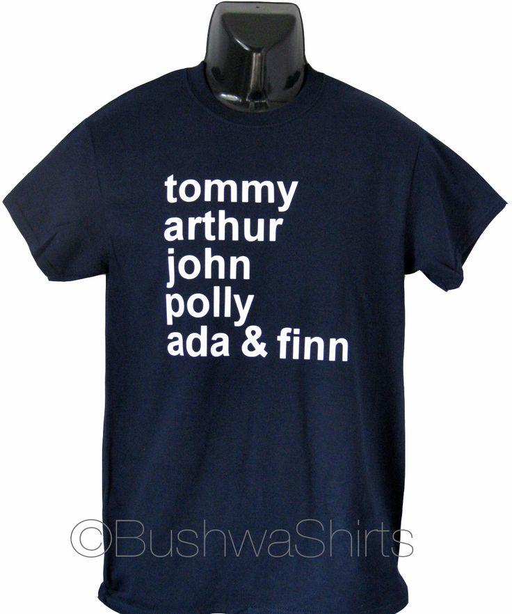 PEAKY BLINDERS Inspired T Shirt Tee Shirt Top  Mens ~ 'Tommy, Arthur, John, Polly Ada & Finn' ~ 100% Cotton ~ Shelby Bros by BushwaShirts on Etsy https://www.etsy.com/listing/278846998/peaky-blinders-inspired-t-shirt-tee