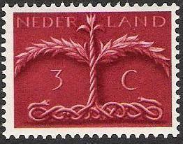 Slangenboom. Postzegel ontwerp Pyke Koch