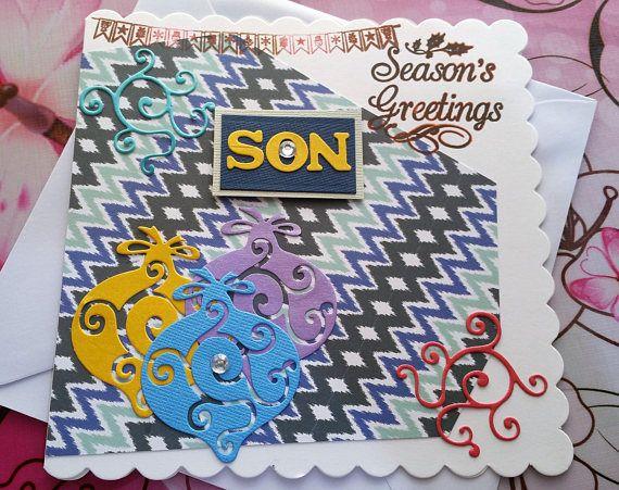 Christmas Card  Son  Handmade Cards  Happy Christmas Cards