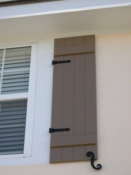 Best 25 shutter hardware ideas on pinterest shutter dogs diy exterior functional shutters for Hardware for exterior shutters