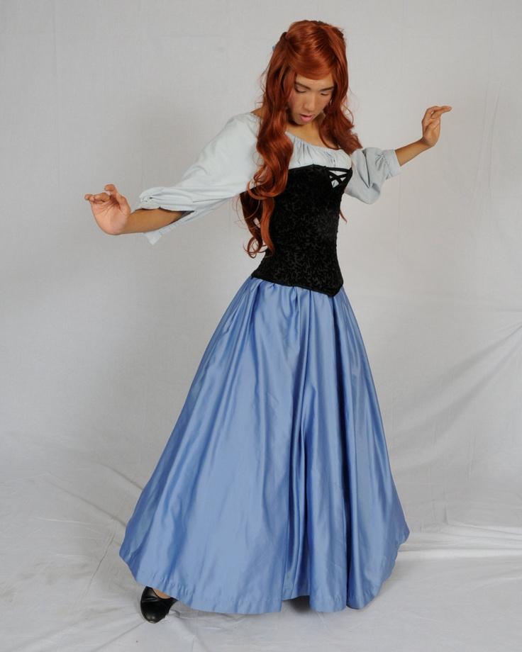 The Little Mermaid Ariel's Blue Town Dress Halloween