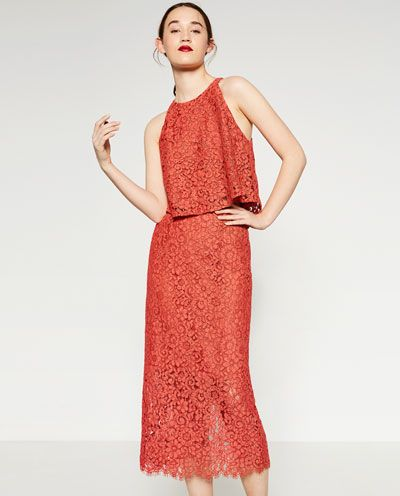GUIPURE LACE PENCIL SKIRT-View all-WOMAN-NEW IN | ZARA United States