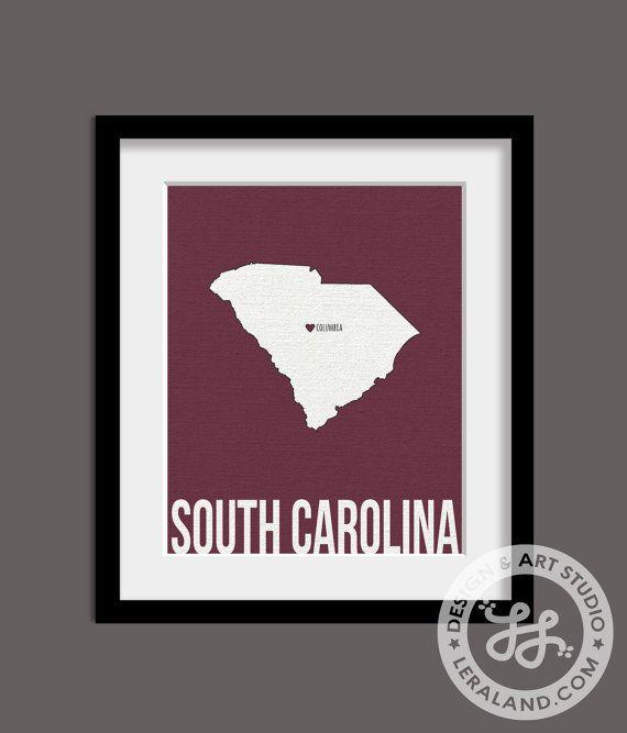 I Love Columbia, South Carolina, SC, 11x14 Or 8x10