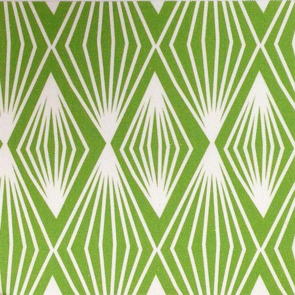 Triangles & Diamonds Fabric. Designed by Petra from Perunoto. £50.00 per metre. Green. www.jessandjules.co.uk