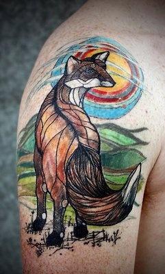 David Hale tattoo beautiful fox
