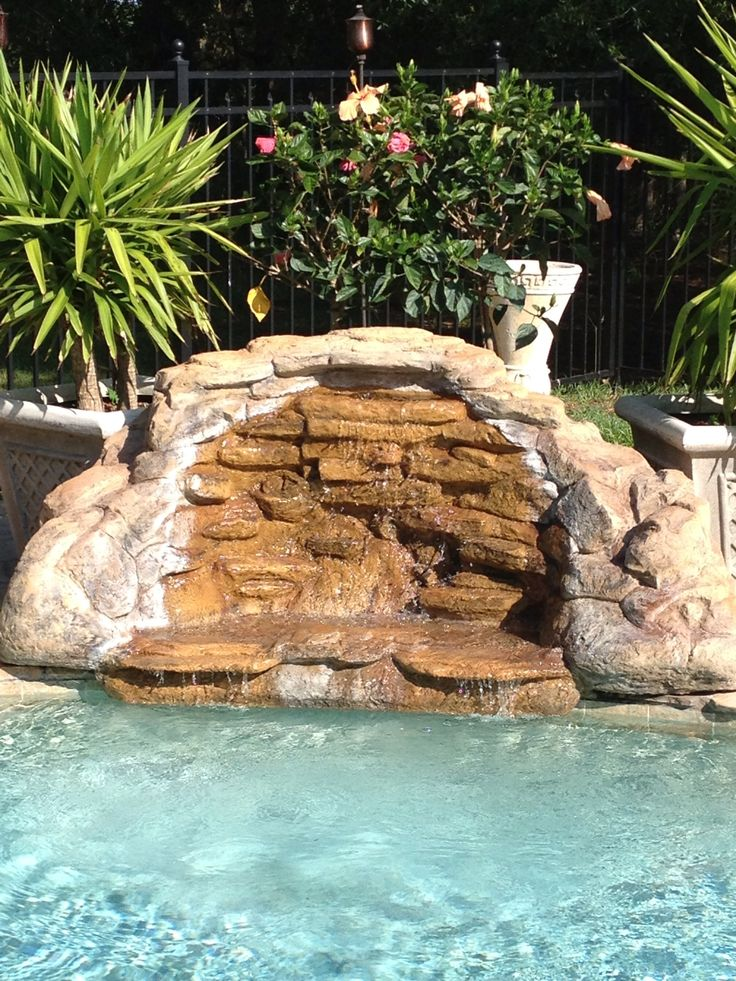 1000 images about rock waterfalls on pinterest pool for Above ground pool waterfall ideas