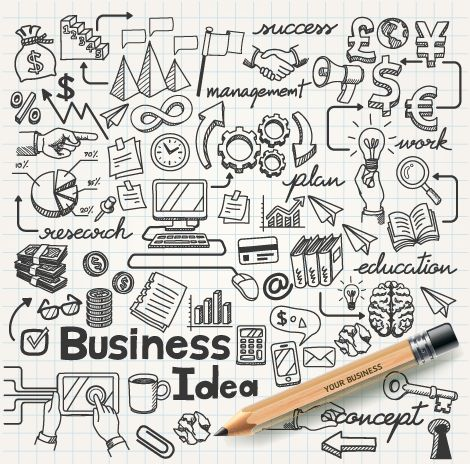 Hand drawn business infographics elements vector