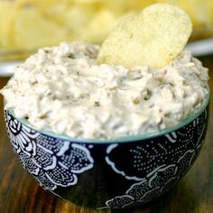 Caramelized Onion Dip Recipe Appetizers with sour cream, onions, worcestershire sauce, salt