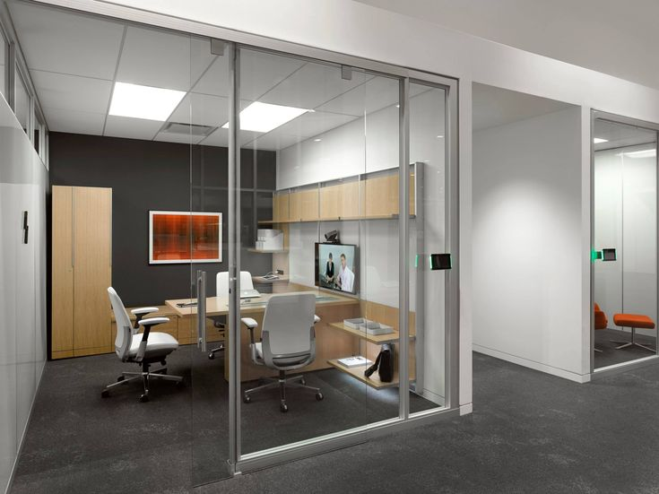 Steelcase Private Office Light Wood Furniture Dark
