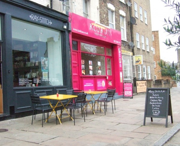 Raystitch - a fabric shop with coffee and sandwiches - no no no no I want one.