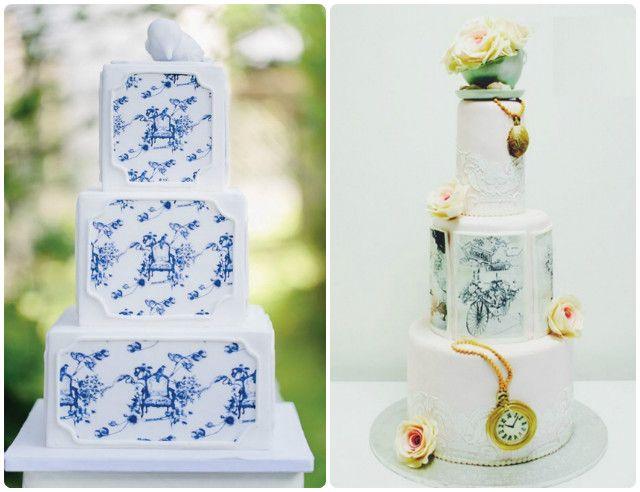 Цветочные узоры на торте Нежно и со вкусом!