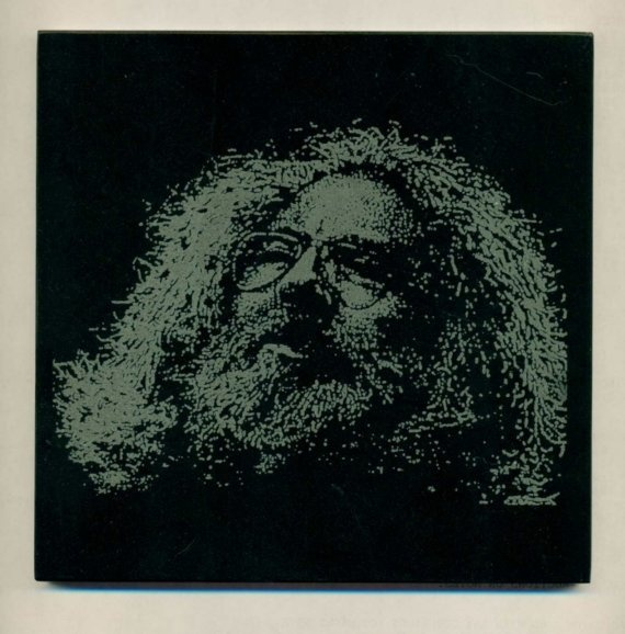 Jerry Garcia Etching on Black Marble Tile by laserbabygifts, $20.00