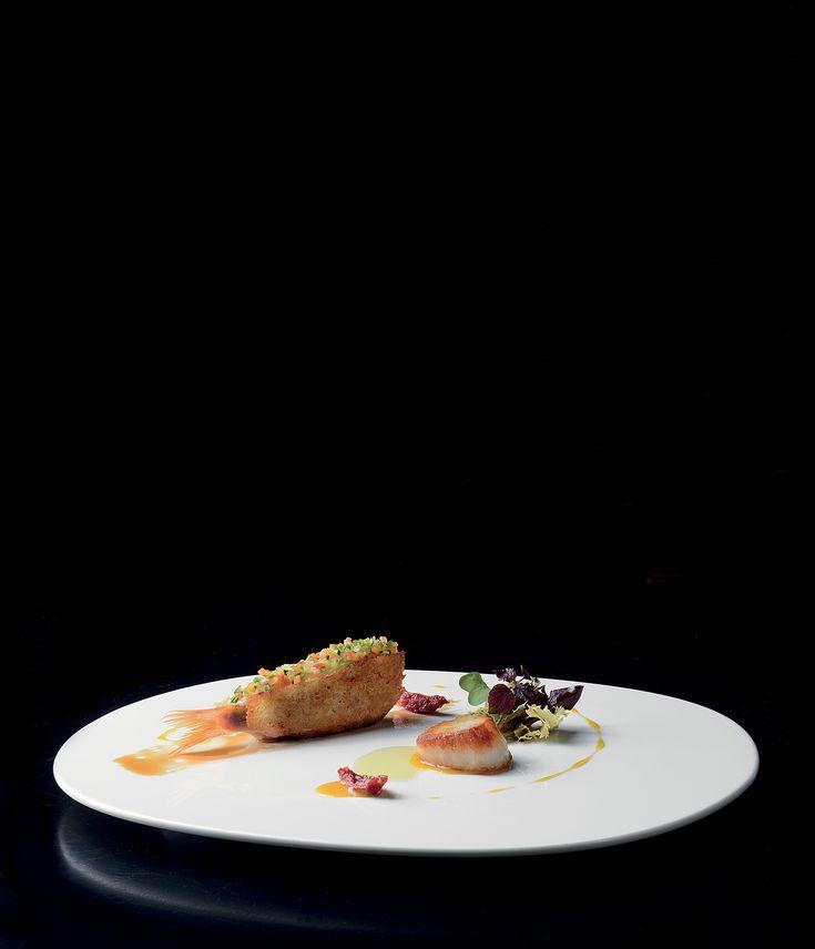 """""""Elegantemente triglia"""" dello chef Daniele Sera del Ristorante Tosca di Casole d'Elsa (SI)  #lamadia #lamadiatravelfood #food"""