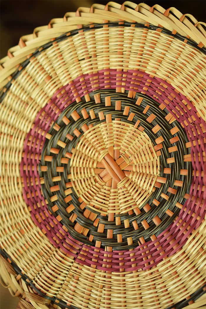 Kalinago craft : baskets in Dominica island