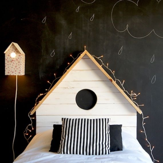cute bird house bed!... A someday idea :)