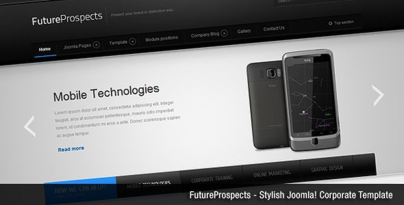 FutureProspects is a clean, stylish template designed for Joomla! 1.7/2.5 CMS . It was designed as a template for business/corporate, but it will suit well in many kinds of projects like product websites, creatives, or blogs.