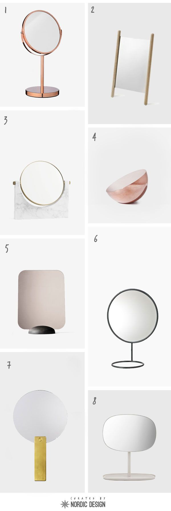8 Beautiful Table Mirrors from Scandinavian Designers & Brands