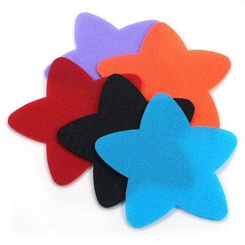 These spots stick to carpet like velcro. Choose from different shapes. These would work for seating organization on classroom rugs. They are plastic and durable.