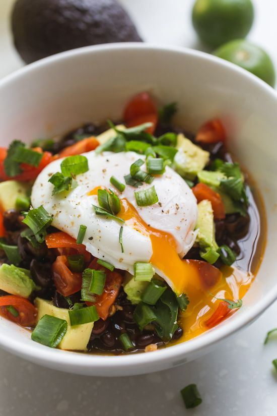 These simple and tasty black beans, flavored with bacon, onion, garlic, poblano and lots of spices, have smoky yet mild taste that pair well with lots of dishes.