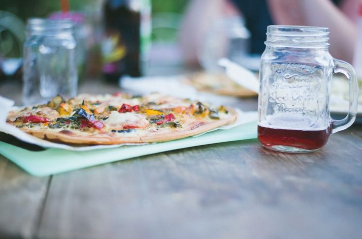 Download this free photo here www.picmelon.com #freestockphoto #freephoto #freebie /// Pizza with Glass of Juice   picmelon
