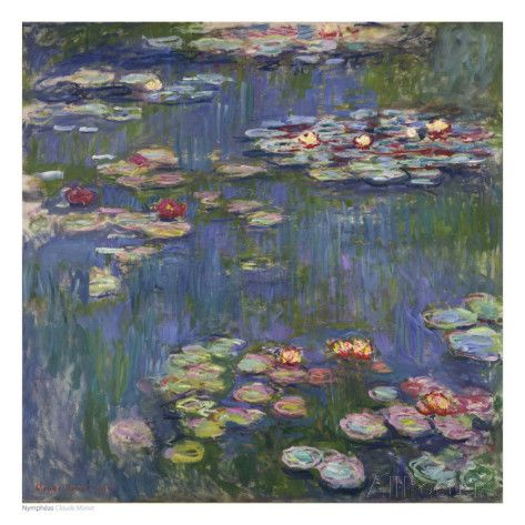Water Lilies (Nymphéas), c.1916 Art by Claude Monet at AllPosters.com