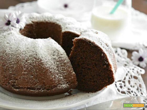 Torta al latte caldo e cacao  #ricette #food #recipes