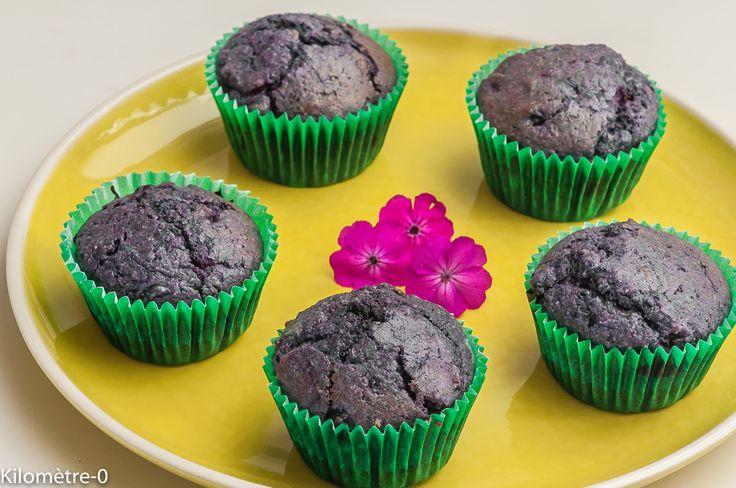Photo de recette de muffins, myrtilles, facile, rapide, léger, de Kilomètre-0, blog de cuisine réalisée à partir de produits locaux et issus de circuits courts