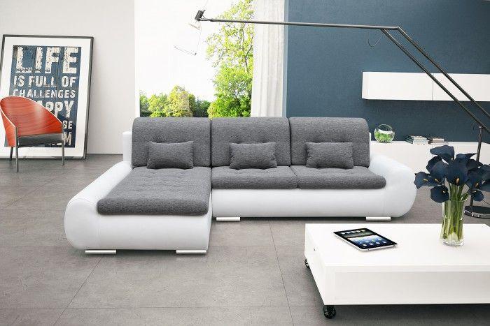 Elegantní sedací souprava Space nabízí pohodlí a dokonalý komfort. Poskytne příjemné posezení s rodinou či přáteli. Moderní design a kombinace bílé a šedé...