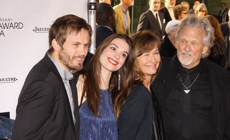 Kris Kristofferson and wife Lisa Meyers. Son Jesse on the ...