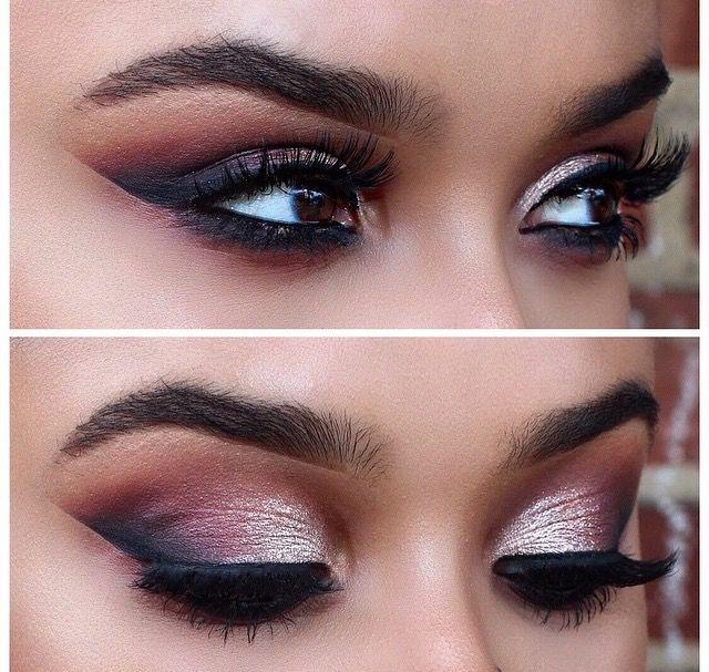 Perfect dramatic bridal makeup