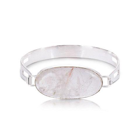 Simply the Stone Bangle. Quartz Crystal