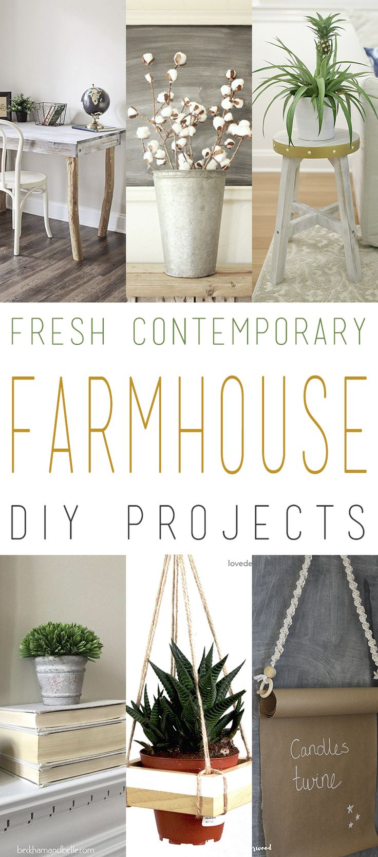 We do so many Farmhouse Collections but we wanted to mix it up a little bit and add some Fresh Contemporary Farmhouse DIY Project Today.  They will all look great in any home decor…but would SHINE in a Contemporary Farmhouse Setting.  So if you are looking for the perfect Toilet Paper Holder or Hanging Planter…there …