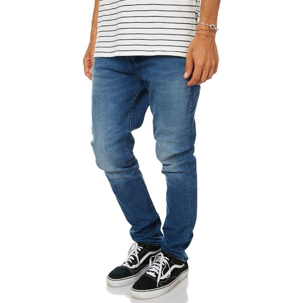 Neuw Ray Tapered Mens Jean Blue ($140) ❤ liked on Polyvore featuring men's fashion, men's clothing, men's jeans, blue, jeans, men, mens slim jeans, mens slim tapered jeans, mens slim fit tapered jeans and mens vintage jeans