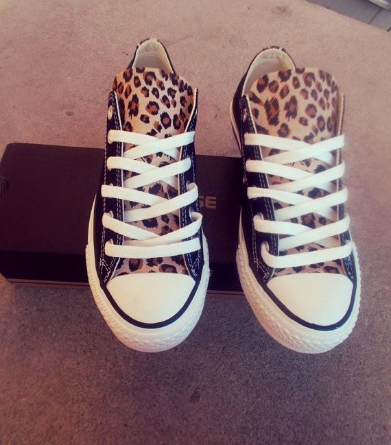 Leopard Converse Shoes by DeBowShop on Etsy, $85.00