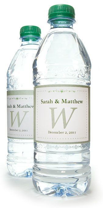 Make your own personalized water bottle labels.