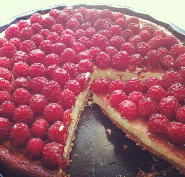 Ricotta cheesecake s malinami