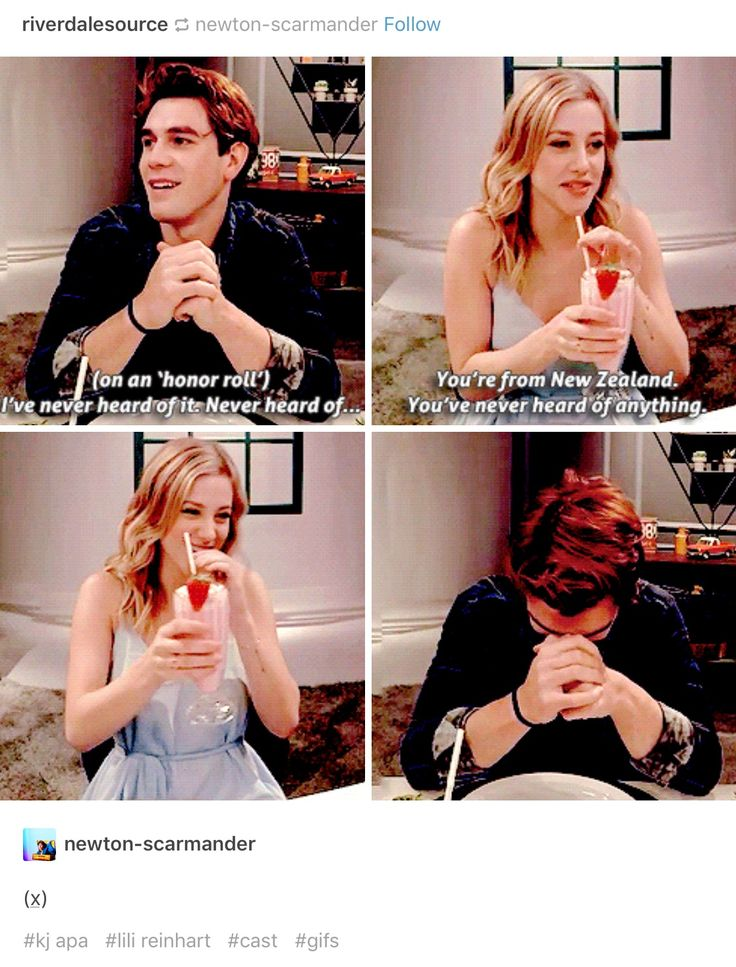 #Riverdale #LiliReinhart #KJApa I DID NOT KNOW. explains why his accent pisses me off but he does it well. Represent