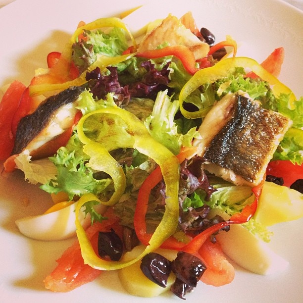 urse of our lunch at Il Salviatino: delicious salad | by niedblog
