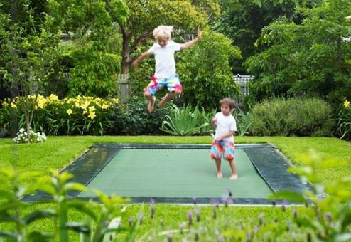 Ground level trampoline...JUMP!