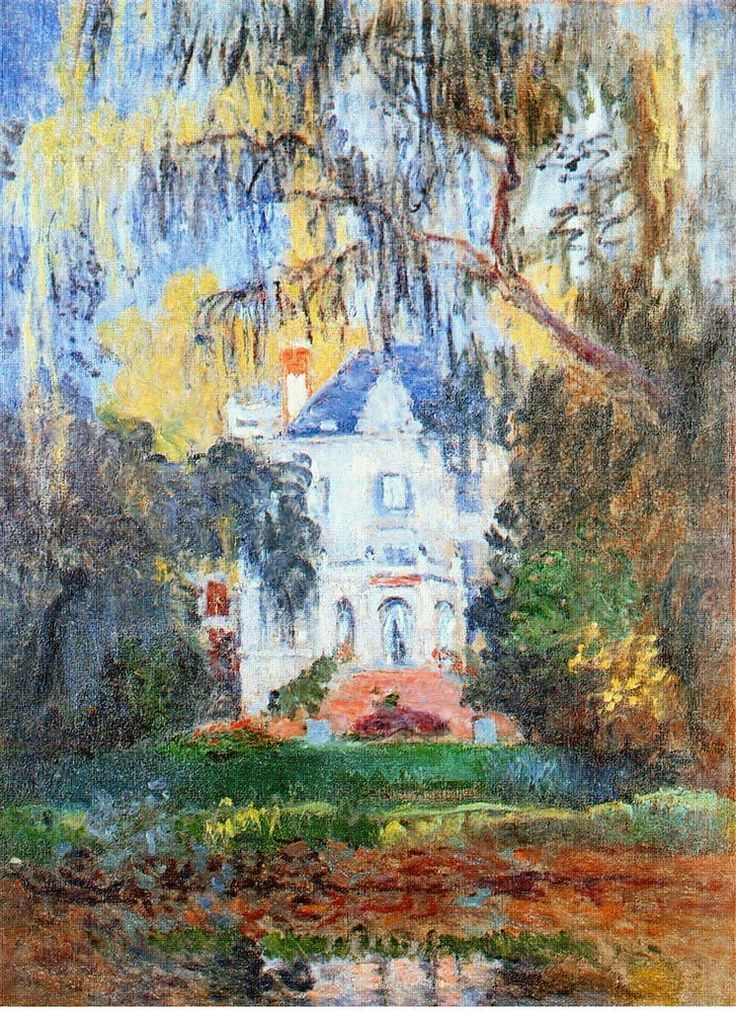 The House at Yerres - Claude Monet.