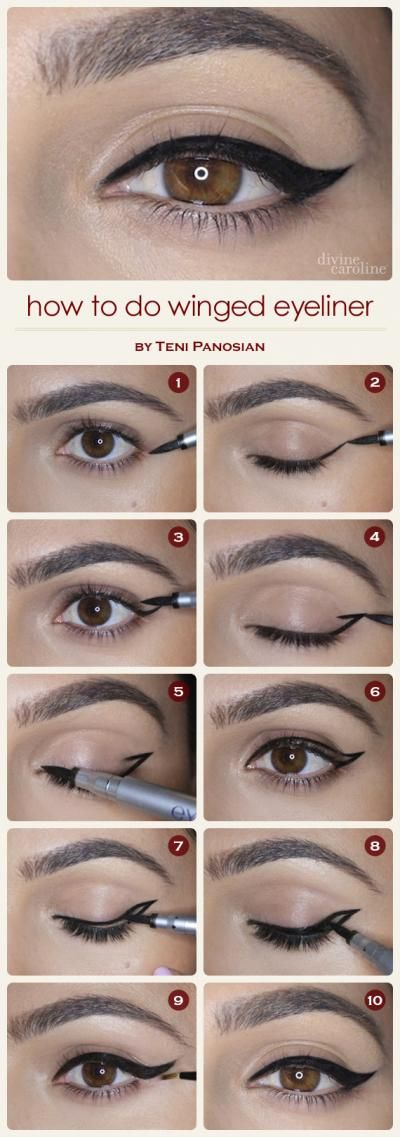 How to Do Winged Eyeliner ---- no matter how many Pins I find on this, I just can't seem to get it look this good!