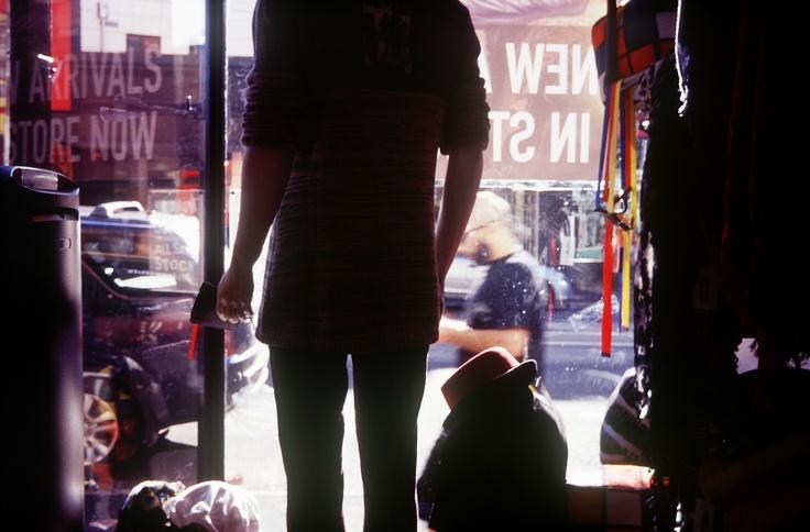 my melbourne #1: op shop on brunswick street, as viewed from inside