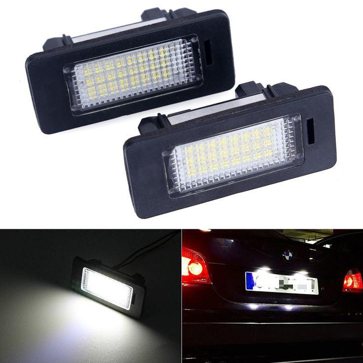 Ошибка Бесплатный Автомобильные Светодиодные Номерного знака Светодиодные Лампы 12 В Белый 6000 К Для BMW E39 E60 E82 E90 E92 E93 M3 E39 E60 E70 X5 E60 E61 M5 E88