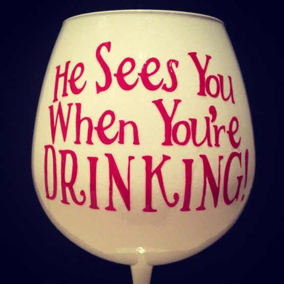 A nice bottle of wine and a couple of these glasses would make a fun Christmas hostess gift!