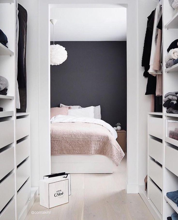 blancperso – deco blog – schlafzimmer – ankleideraum – weiß – grau – pink / schlafzimmer